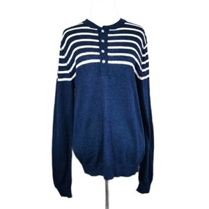 NSF Striped Henley Pullover Sweater